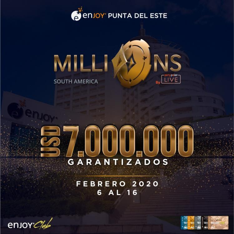 MILLIONS América do Sul retorna em 2020 com sede no Uruguai/CardPlayer.com.br