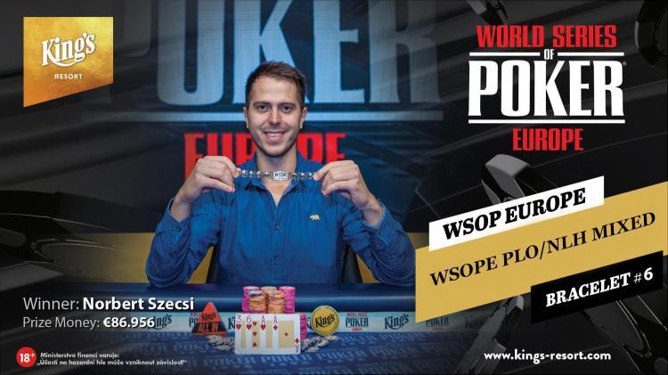 Norbert Szecsi derrota Shaun Deeb e conquista o título do Evento 6 da WSOP Europa/CardPlayer.com.br