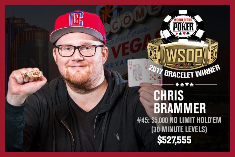 Chris Brammer vence o Evento 45 da WSOP/CardPlayer.com.br