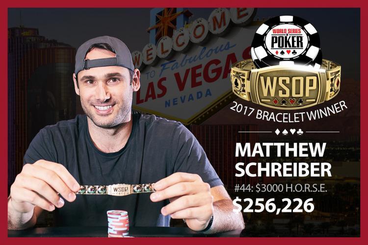 Matthew Schreiber conquista o título do Evento 44 da WSOP/CardPlayer.com.br