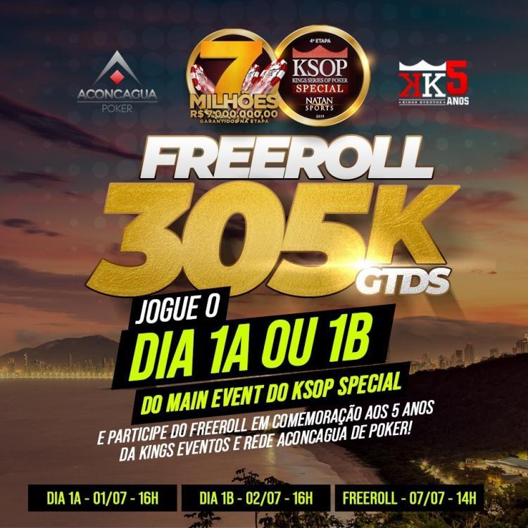 KSOP Special vai ter freeroll com R$ 305 mil garantidos/CardPlayer.com.br