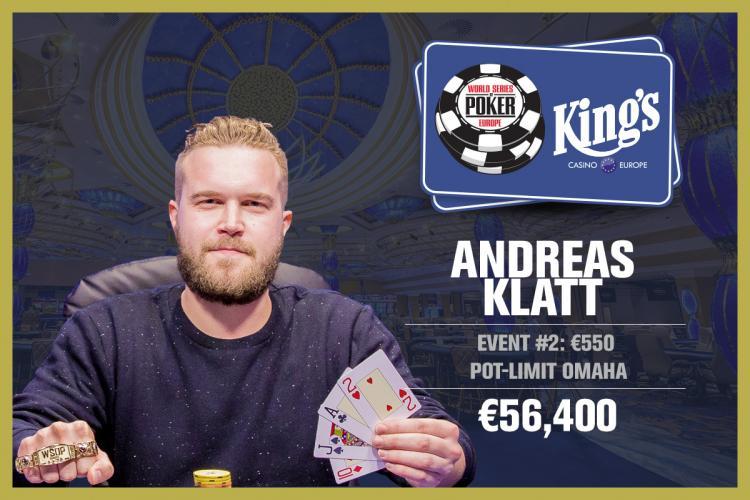 Andreas Klatt vence o Evento 2 da WSOP Europa/CardPlayer.com.br