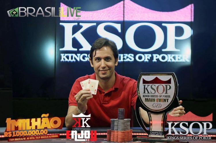 Jorio Jadjiski conquista o título do KSOP Brasília/CardPlayer.com.br