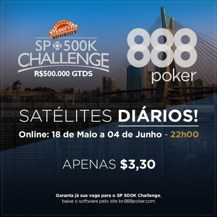 888poker promove satélites para o SP 500K Challenge/CardPlayer.com.br
