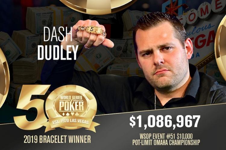 Dash Dudley vence PL Omaha Championship da WSOP/CardPlayer.com.br