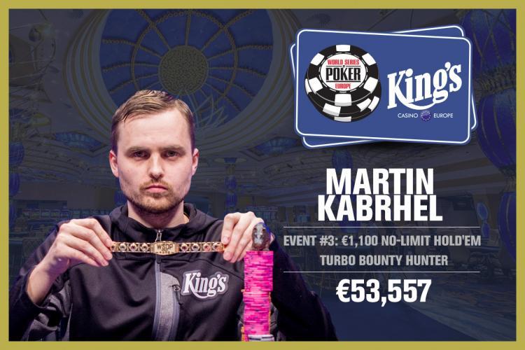 Martin Kabrhel conquista o título do Evento 3 da WSOP Europa/CardPlayer.com.br