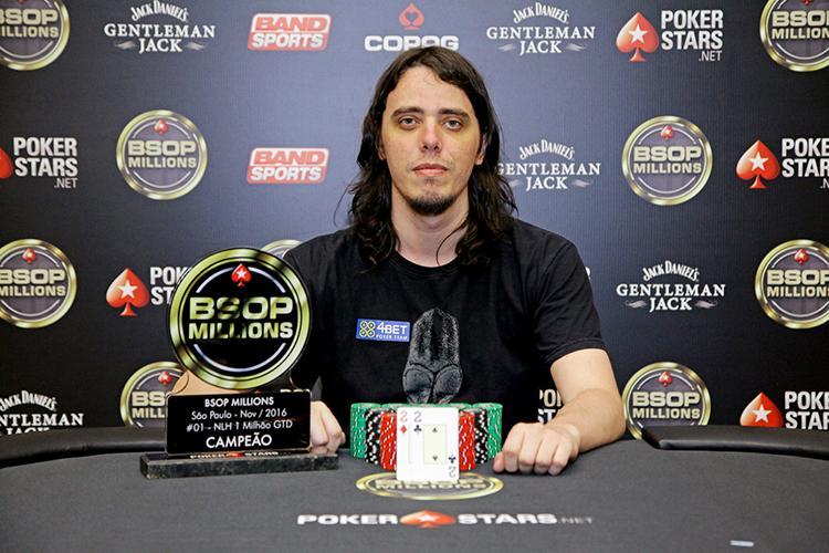 """Daniel """"Stere0love"""" Genovez vence o maior torneio do BSOP em 2016/CardPlayer.com.br"""