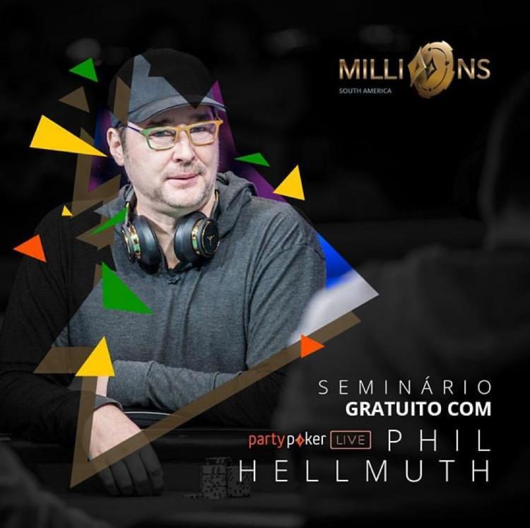 Phil Hellmuth oferece seminário gratuito no MILLIONS Rio/CardPlayer.com.br