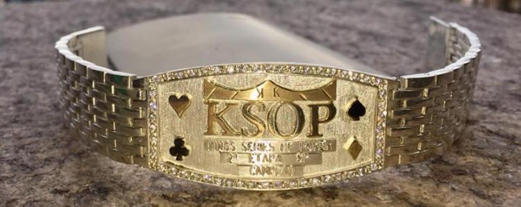 KSOP revela bracelete do campeão da etapa de São Paulo/CardPlayer.com.br