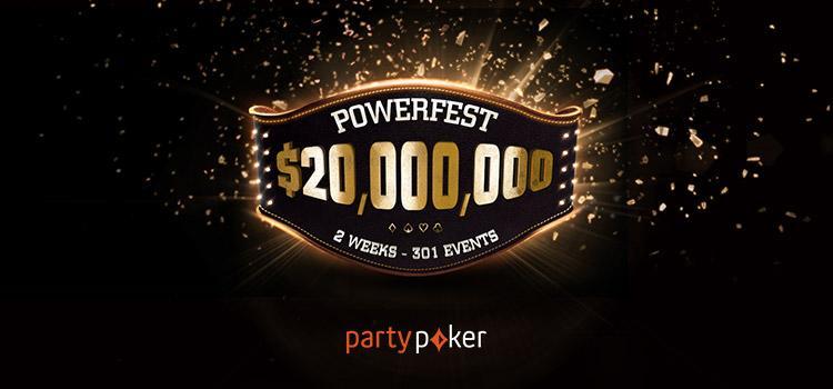 partypoker promove satélites para eventos milionários da Powerfest/CardPlayer.com.br