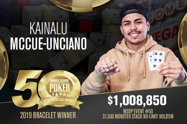 Kainalu McCue-Unciano leva a melhor no Monster Stack da WSOP/CardPlayer.com.br