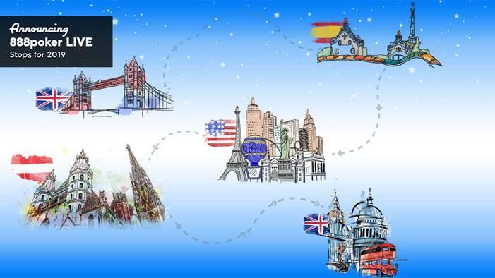 888poker Live vai ter várias etapas na Europa em 2019/CardPlayer.com.br