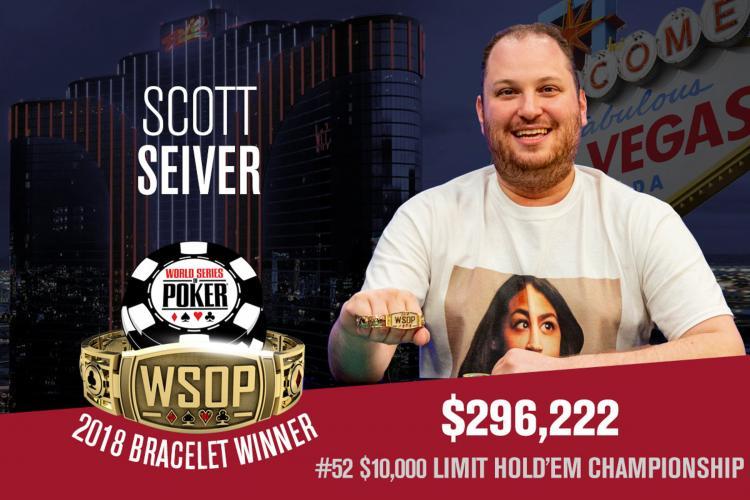 Scott Seiver leva a melhor no Limit Hold'em Championship da WSOP/CardPlayer.com.br