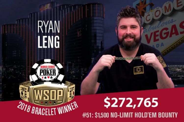 Ryan Leng leva a melhor no Evento 51 da WSOP /CardPlayer.com.br