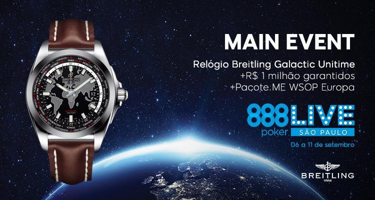 Campeão do 888Live São Paulo vai receber relógio avaliado em R$ 40 mil/CardPlayer.com.br