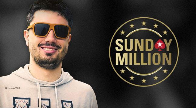 Igor Campanha é vice no Sunday Million e leva R$ 250 mil/CardPlayer.com.br