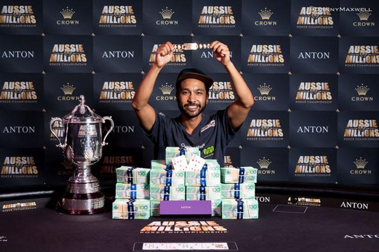 Depois de vencer satélite de $130 Shurane Vijayaram vence Main Event do Aussie Millions/CardPlayer.com.br