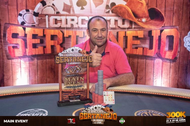 Jomar Guerra crava etapa do Circuito Sertanejo em Campo Grande/CardPlayer.com.br