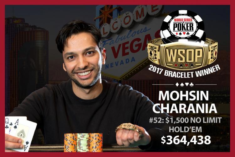 Mohsin Charania vence na WSOP e completa a tríplice coroa /CardPlayer.com.br