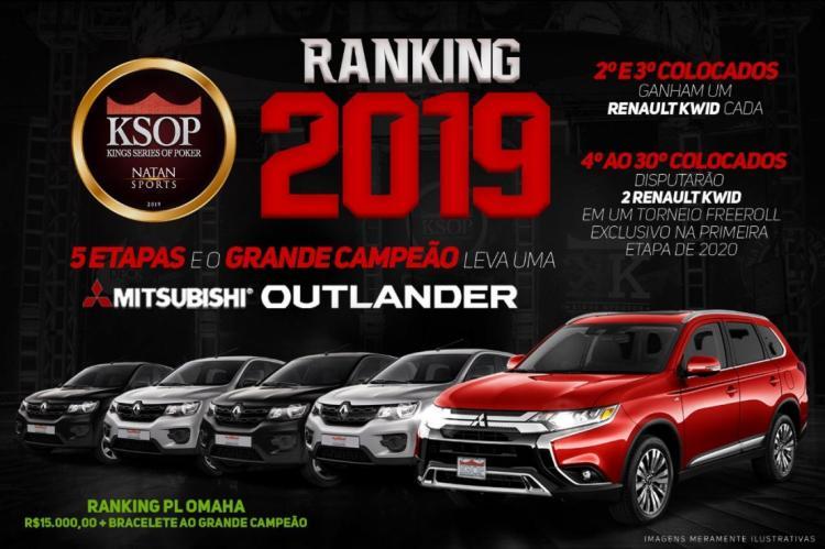 Ranking do KSOP vai distribuir cinco carros 0km/CardPlayer.com.br