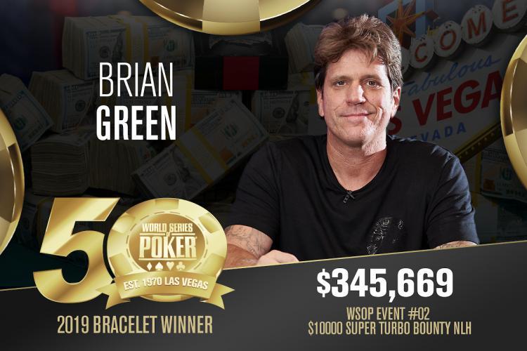 Brian Green conquista o primeiro bracelete da WSOP 2019/CardPlayer.com.br