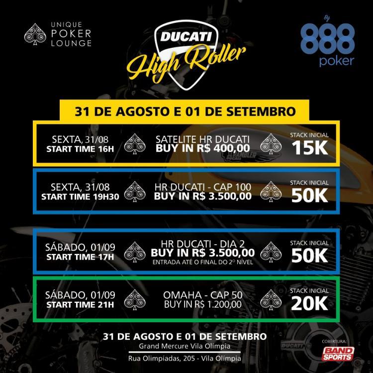 Ducati High Roller começa nesta sexta-feira/CardPlayer.com.br