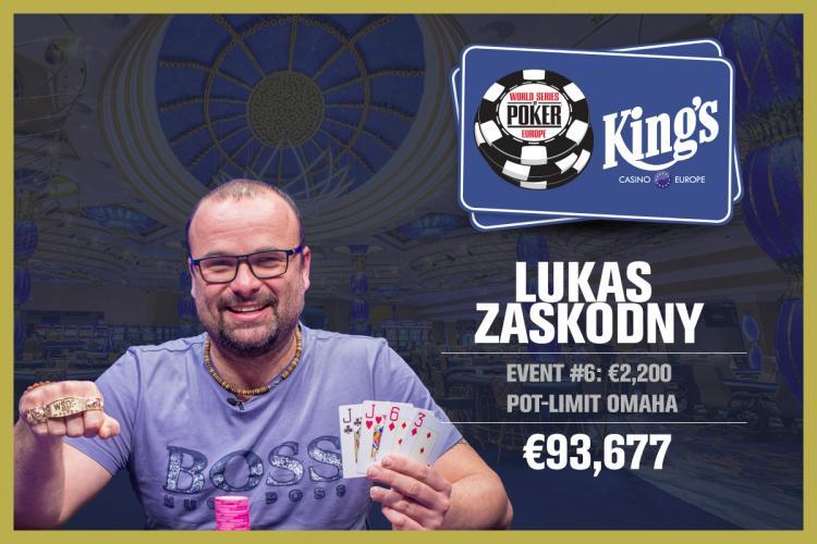 Lukas Zaskodny crava o Evento 6 da WSOP Europa/CardPlayer.com.br
