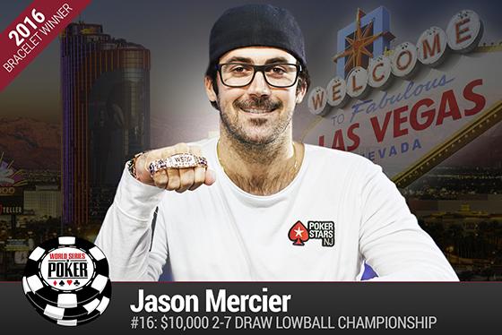Jason Mercier fatura o quarto bracelete de ouro da carreira/CardPlayer.com.br