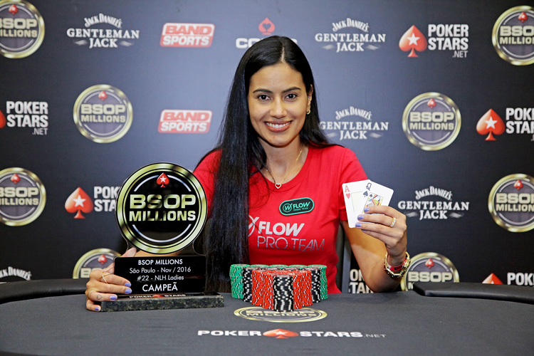 Marcella Camargo foi campeã do Ladies Event do BSOP Millions 2016