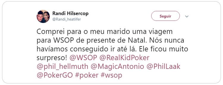 Norte-americano ganha viagem para WSOP de presente de Natal/CardPlayer.com.br