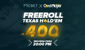 Participe do Freeroll da Card Player no site Micbet/CardPlayer.com.br