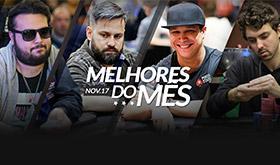 Veja quem foi destaque do poker nacional em Novembro/CardPlayer.com.br