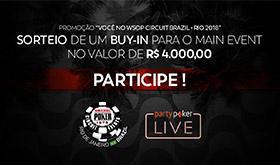 partypoker LIVE WSOPC Brazil sortear buy-in de R$ 4 mil/CardPlayer.com.br